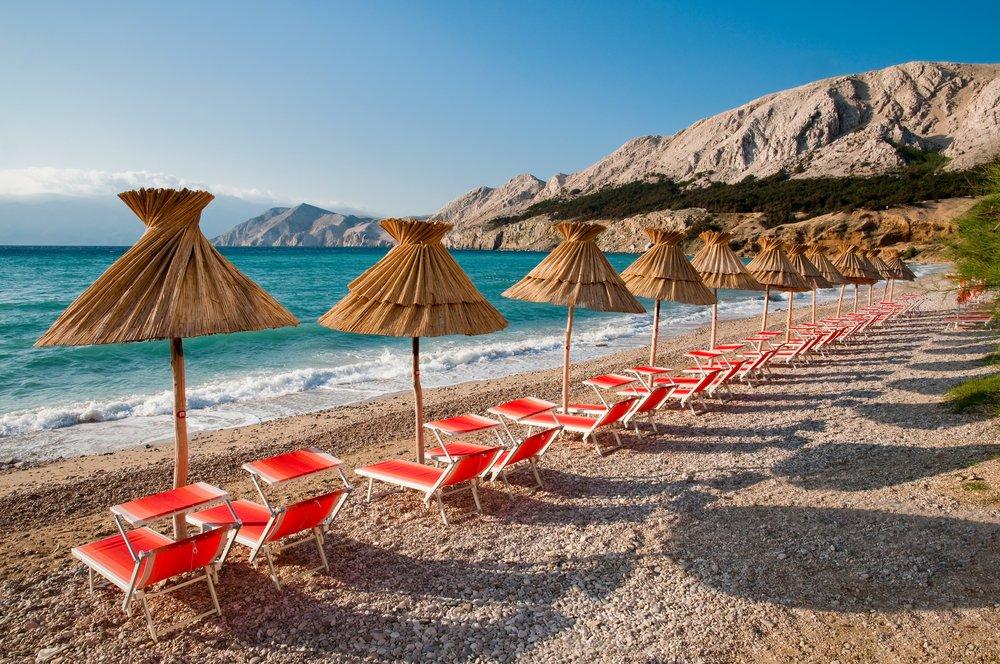 Isola di Krk, spiaggia