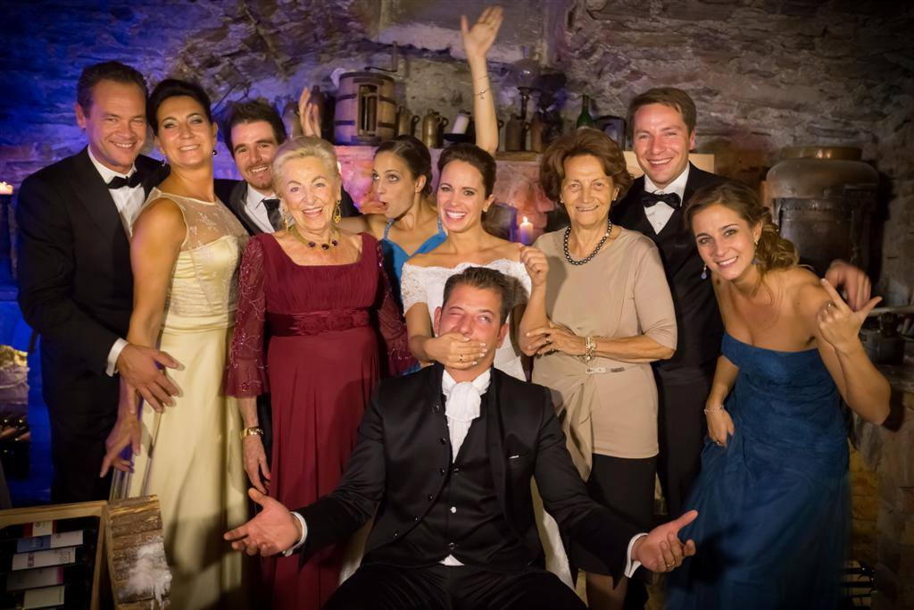 La Famiglia Seyrling, proprietaria del Klosterbräu da generazioni. Al centro Alois Seyrling e la moglie