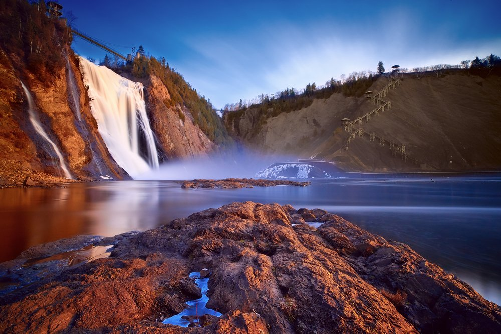 Viaggio di nozze in Quebec, le montagne e cascate