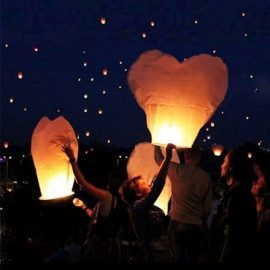 et 20 lanterne volanti cinesi