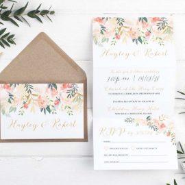 Inviti nozze a tema floreale