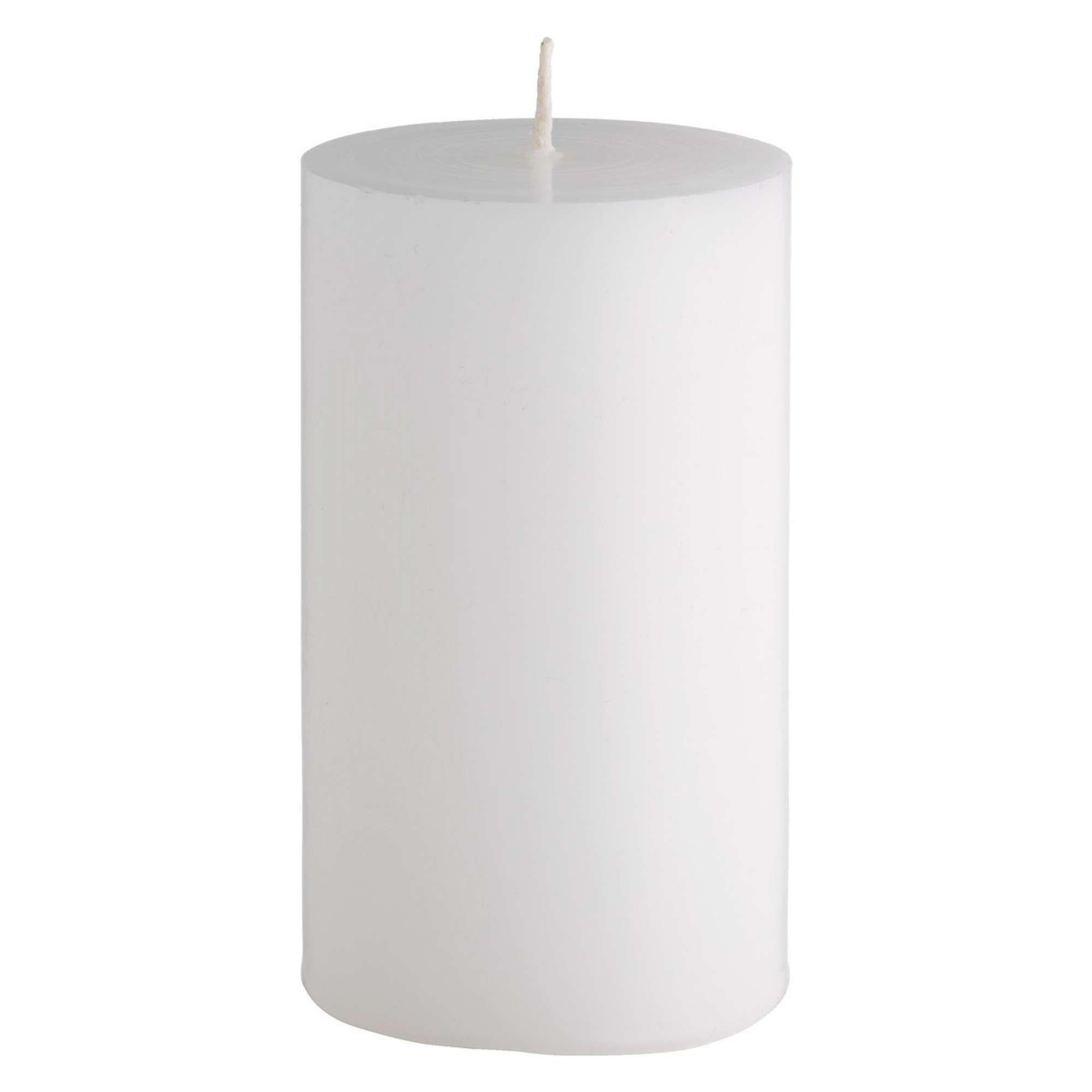 Confezione 12 candele bianche