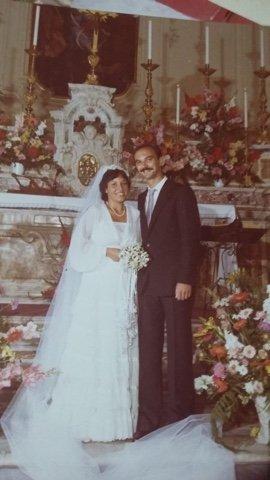 Elsa e Ciro matrimonio nel 1989