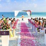 Matrimonio tropicale all'insegna del relax