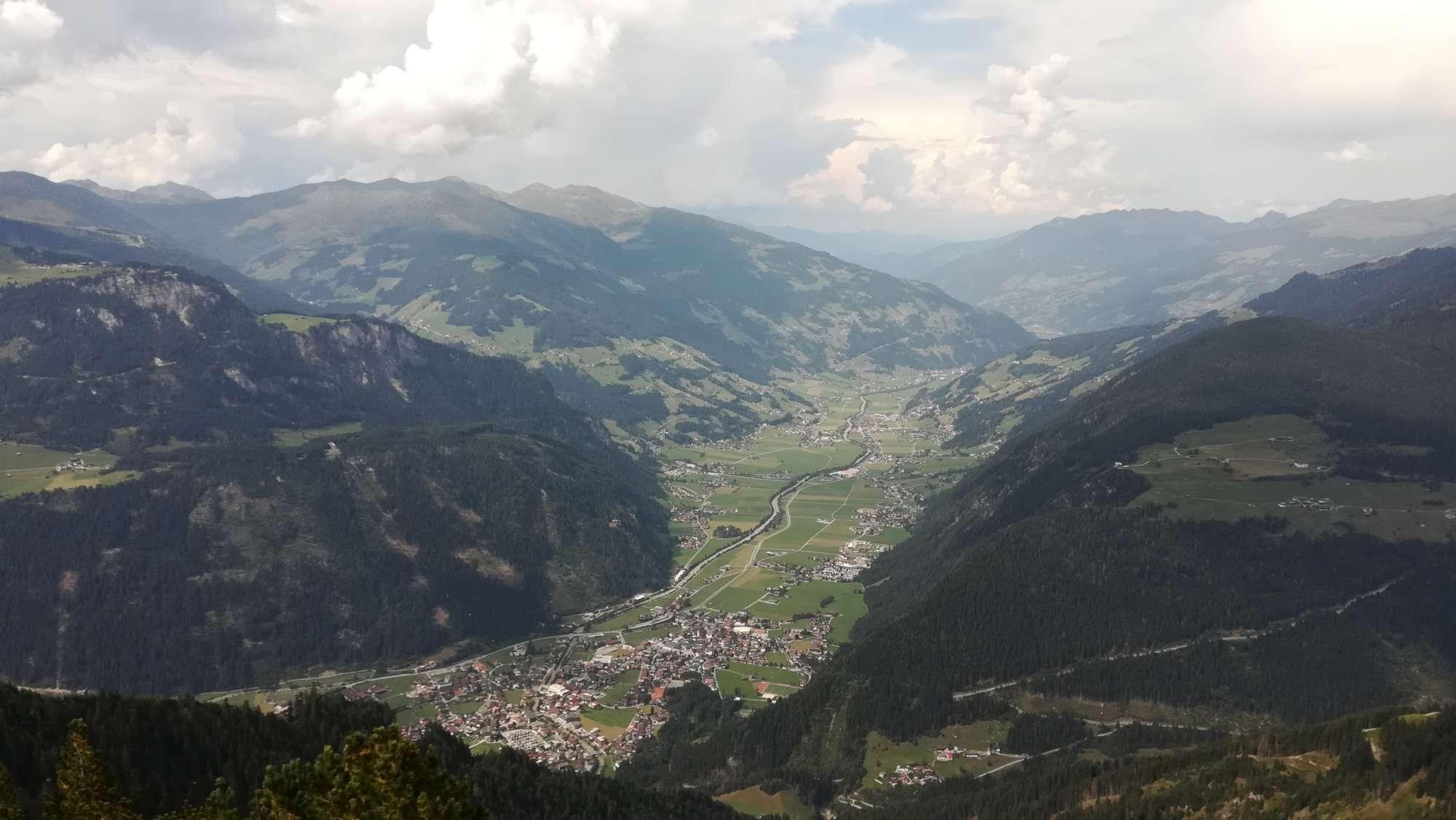 Zillertal vista da sud