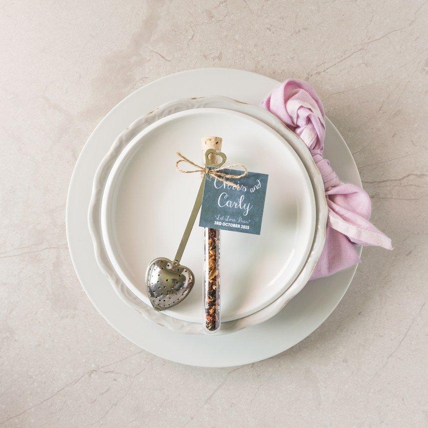 bomboniera invernale piatto e cucchiaio