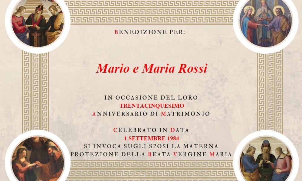 Anniversario Matrimonio Vaticano.Benedizione Papa Come Ottenere La Pergamena Online